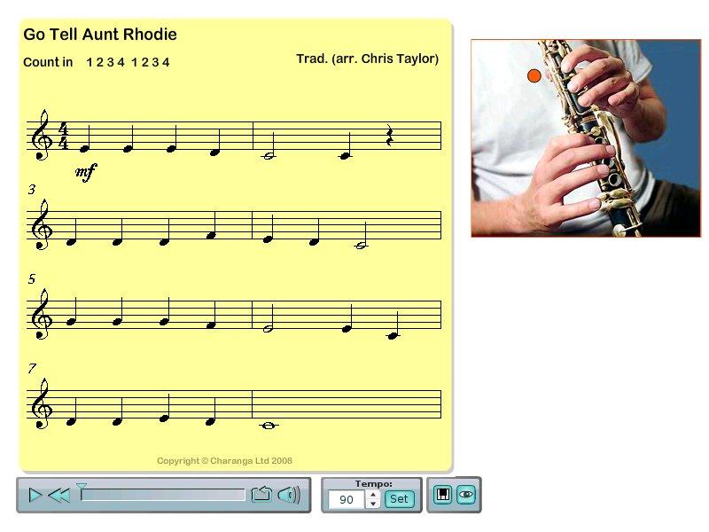 Go Tell Aunt Rhodie (Clarinet in Bb)